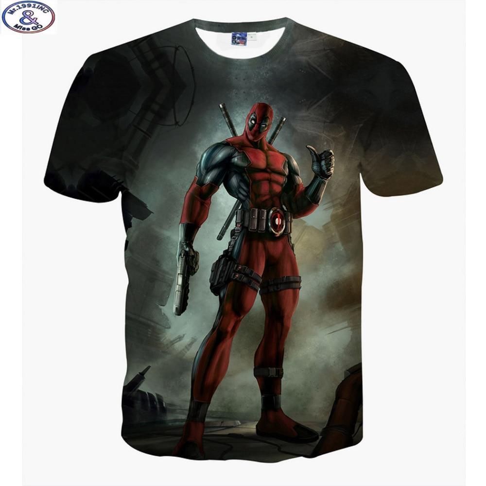 Mr.1991 neueste kommen Amerika Cartoon Anime Schlechte jungs Deadpool 3D gedruckt t-shirt jungen große kinder teens t shirt kinder tops A12