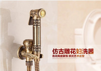 Bathroom Total Brass Bronze Finished Bidet Faucet Toilet Bidet Shower Set Portable Bidet Spray 1 5m
