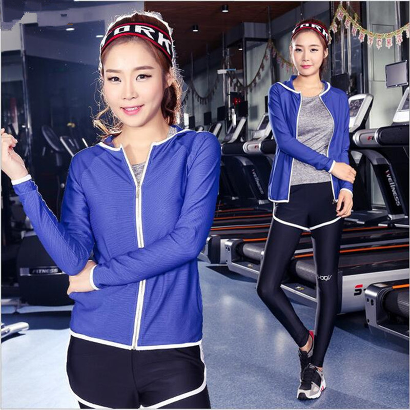 New women sports female yoga workout set clothes Zipper Long Sleeve - Sportswear and Accessories - Photo 2