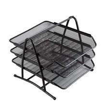 3-Tier Mesh Desk Organizer Letter Paper Tray holder Sorter Collection Office Desktop Organizer archivador