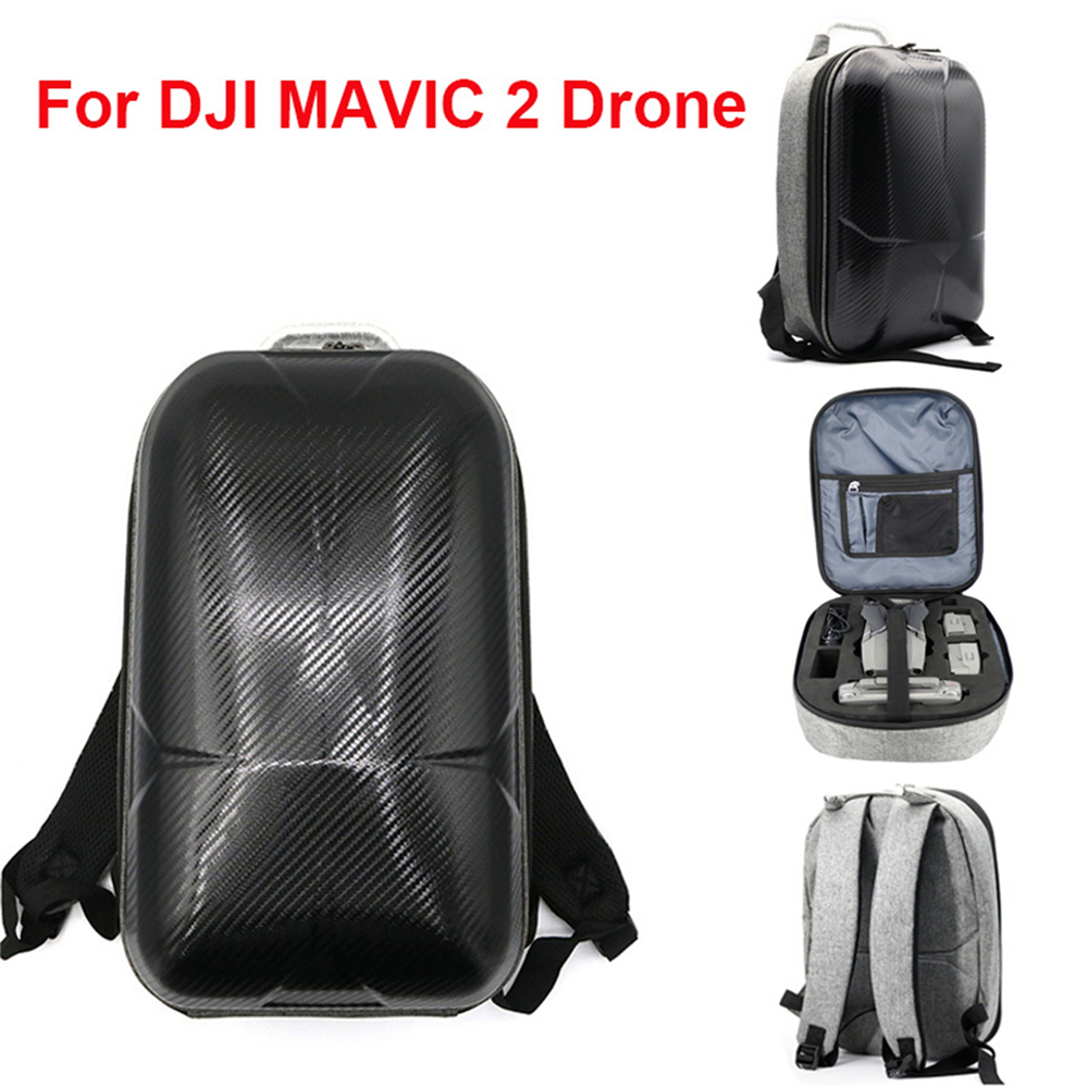 PC Hard Shell Carrying Backpack for DJI MAVIC 2 Drone & Accessories Waterproof Anti-Shock Storage Bag Case dji phantom 4 series drone pc hard shell backpack carbon fiber carrying box for rc quadcopter storage tool accessories knapsack