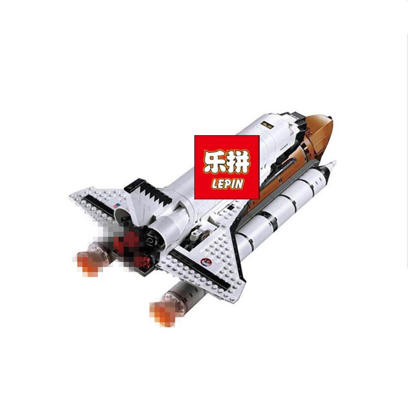 купить Fit For 10231 LEPIN 16014 1230Pcs Space Shuttle Expedition Model Building Kits Set Blocks Bricks Toys Gift недорого