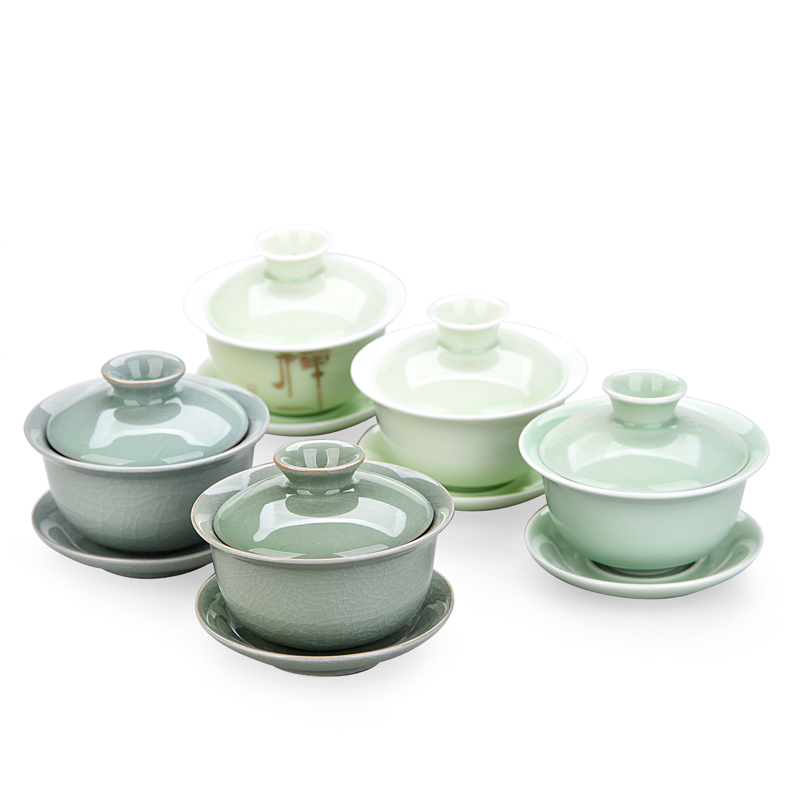 China Hand Painted Gaiwan,Dehua High Quality White Porcelain Tea Cup Set For Travel Beautiful And Easy Kettle