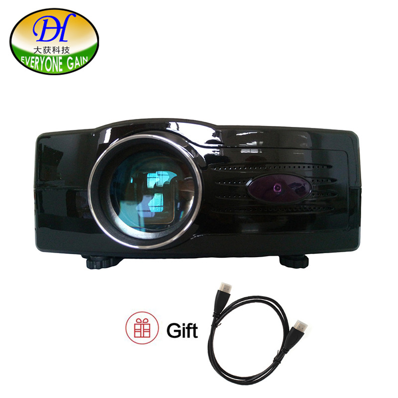 Everyone Gain 3D digital projector LED 2000 lumens video projecteur support 1080P via HDMI for home