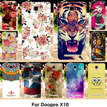 TAOYUNXI Silicone Phone Cover Case For Doogee X10 X 10 5.0 inch Cover Fundas Soft TPU Case Flowers Rose Cat Housing Shell Bag