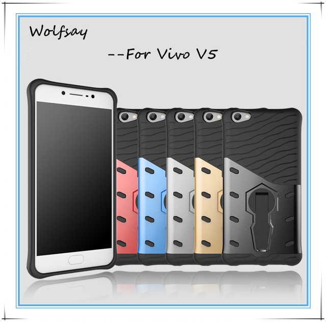 """Wolfsay For Vivo Y67 Case Shockproof Armor Rubber Cover 360 Degree Rotation Case For Vivo Y67 Cover For Vivo V5 Fundas 5.5"""""""