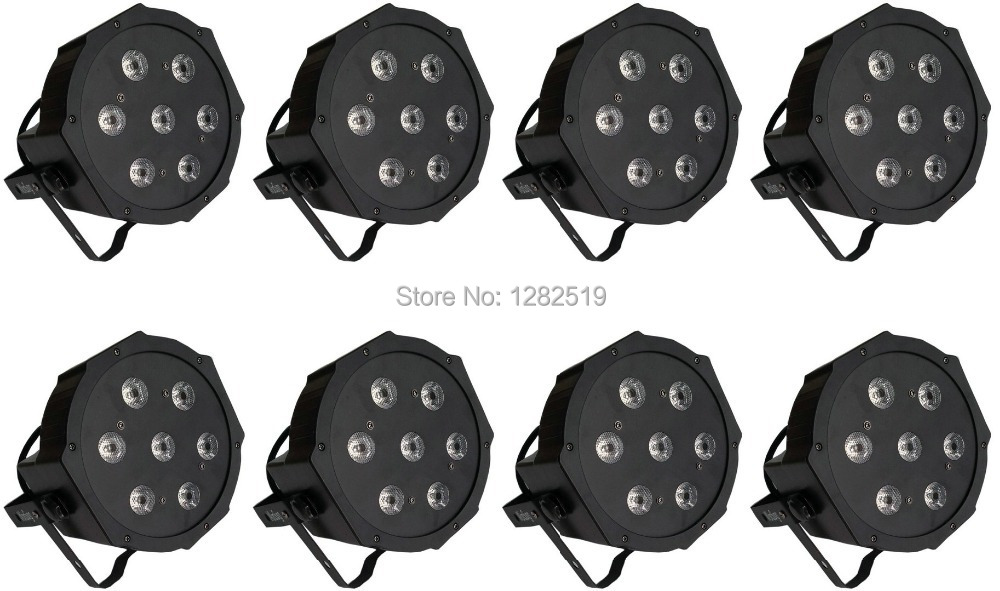 8pcs 7*10W 4in1 high quality RGBW LED PAR Can Slim Par Light 70W DMX Stage disco event lights niugul dmx stage light mini 10w led spot moving head light led patterns lamp dj disco lighting 10w led gobo lights chandelier