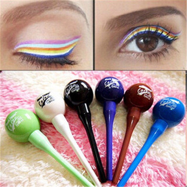 Candy Hairline Lollipop Shape Cosmetic Waterproof Liquid Eyeliner