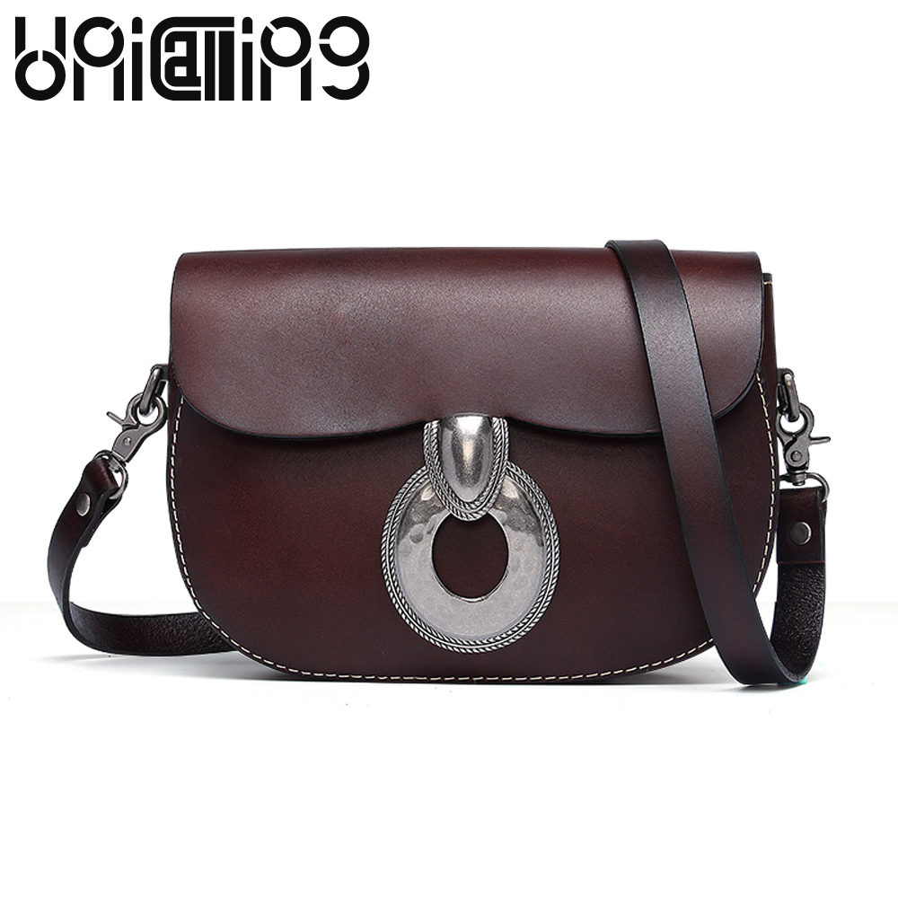 New style Retro Fashion women bag Cow Leather Vegetable tanned leather small shoulder bags All match mini women messenger bags