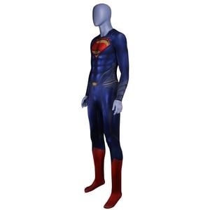 Image 5 - Men Boys Superman Man of Steel Cosplay Costumes Tights Jumpsuits Superhero Event Halloween Superman Costumes Zentai Suit Cloak