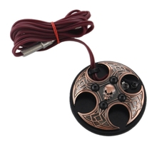 s Skull Tattoo Foot Switch Stainless Steel Tattoo Pedal With Cord Clip For Tattoo Machine