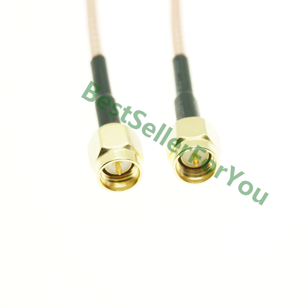 SMA Male To SMA Male Plug Crimp Jumper Pigtail FPV RG316 Cable