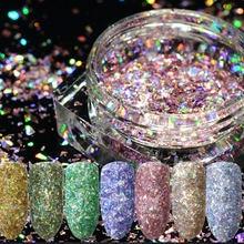 1 гр/кор лазер для ногтевого дизайна красочные разбитые фотодизайны