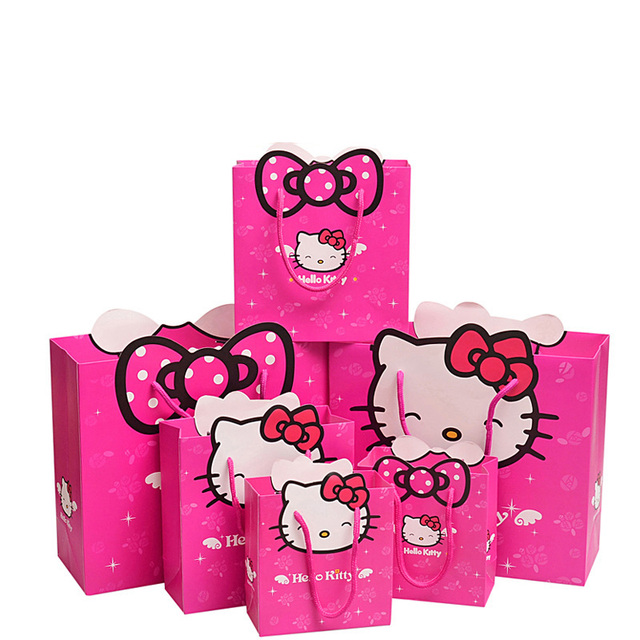 10 Pieces Lot Free Shipping O Kitty Cat Series Paper Gift Bag Children