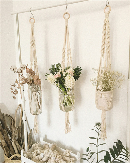Beautiful Handmade Macrame Wall Hanging Decorative Flower Pot Unique