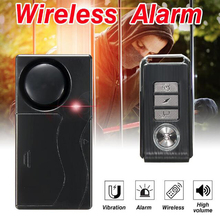 Wireless Anti-theft Security Vibration Warning Alarm System Signaling Shock Sensor Bike Alarm With Remote Control