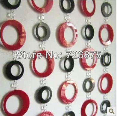 Acrylique cristal perles de rideau pour porte d 39 entr e partition avec grand cercle rideaux de - Rideaux de perles pour portes ...