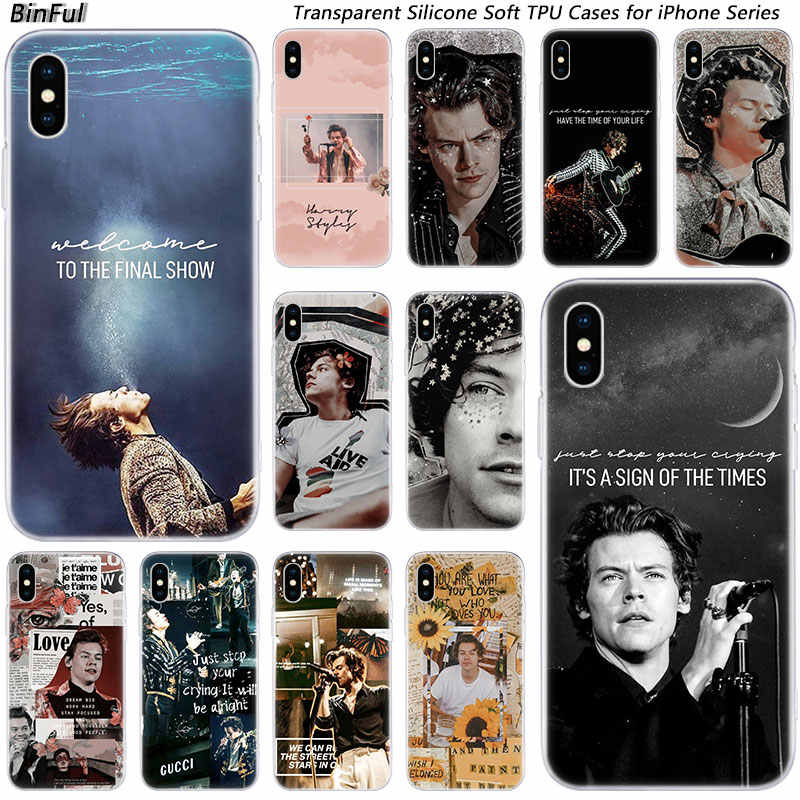 Hot Singer Harry Styles One Direction Cassa Molle Del Silicone per il iPhone di Apple 11 Pro XS MAX XR X 7 8 più di 6 6s Plus 5 5C 5S SE Copertura