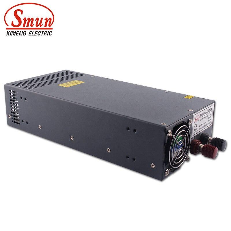 SMUN S-1200-24 1200W 24V 50A sortie unique haute efficacité AC/DC alimentation à découpage pour le contrôle LED et industriel
