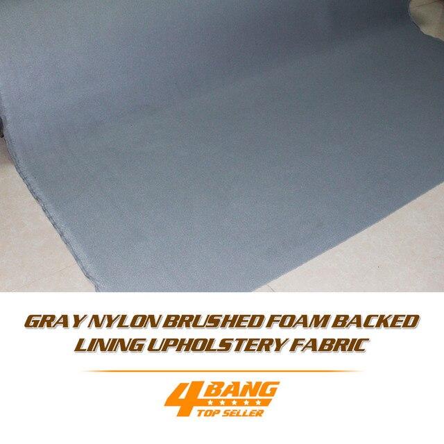 Upgrade Grey Foam Backing Car Boat Interior Headliner Fabric Material 2pcs 80cm*420cm
