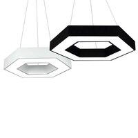 Современный минималистский личность акриловые подвесной светильник 48 Вт LED черный, Белый Цвет Творческий Геометрия Открытый Подвесные Све