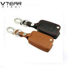 Vtear для Skoda Octavia A7 кожаные чехлы для ключей подкладке ключ покрытие автомобиля-Стайлинг украшения аксессуар s аксессуар 2015