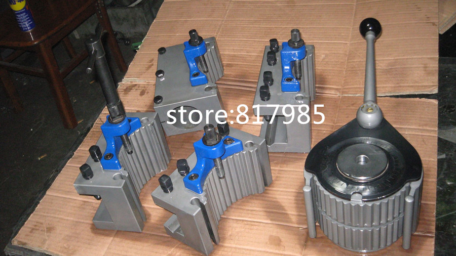 TOOB2 300 500mm lathe swing 40 position quick change tool post set European style contain 5pcs