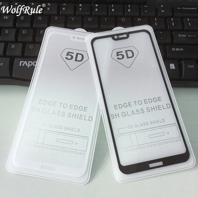 buy online 96d74 3d8a7 US $2.36 24% OFF|5D Full Glue Cover Tempered Glass Huawei P20 Lite Screen  Protector Phone Film For Huawei P20 lite Full Glue Glass Nova 3E-in Phone  ...