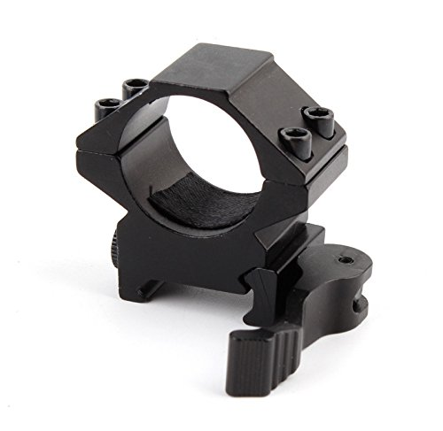 "UniqueFire QD Quick Release 1"" 25.4mm Scope Ring Low Profile 20mm Dovetail Picatinny Weaver Rail Mount QD Ring (M2006 1)