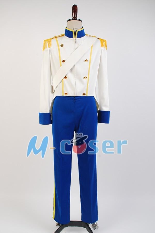 La pequeña sirena 1989 Príncipe Eric uniforme Cosplay traje para ...