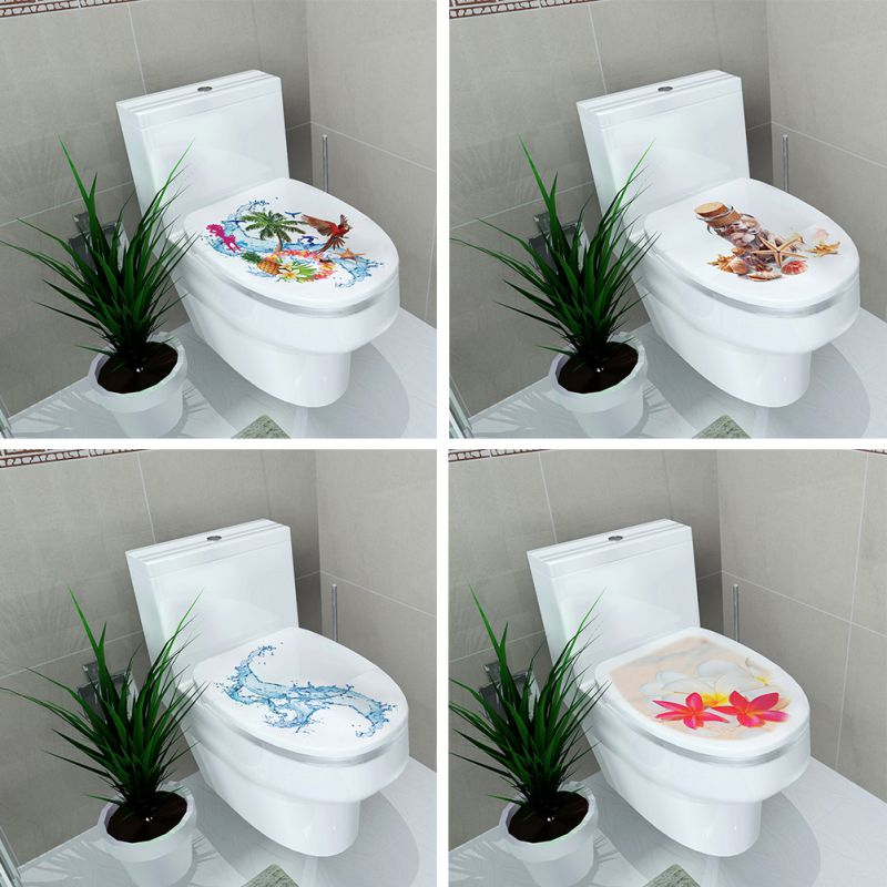 Toilet Sticker Stool Pedestal Pan Cover Commode Home Decor Bathroom 3D Printed Flower View 3239cm In Wall Stickers From Garden On