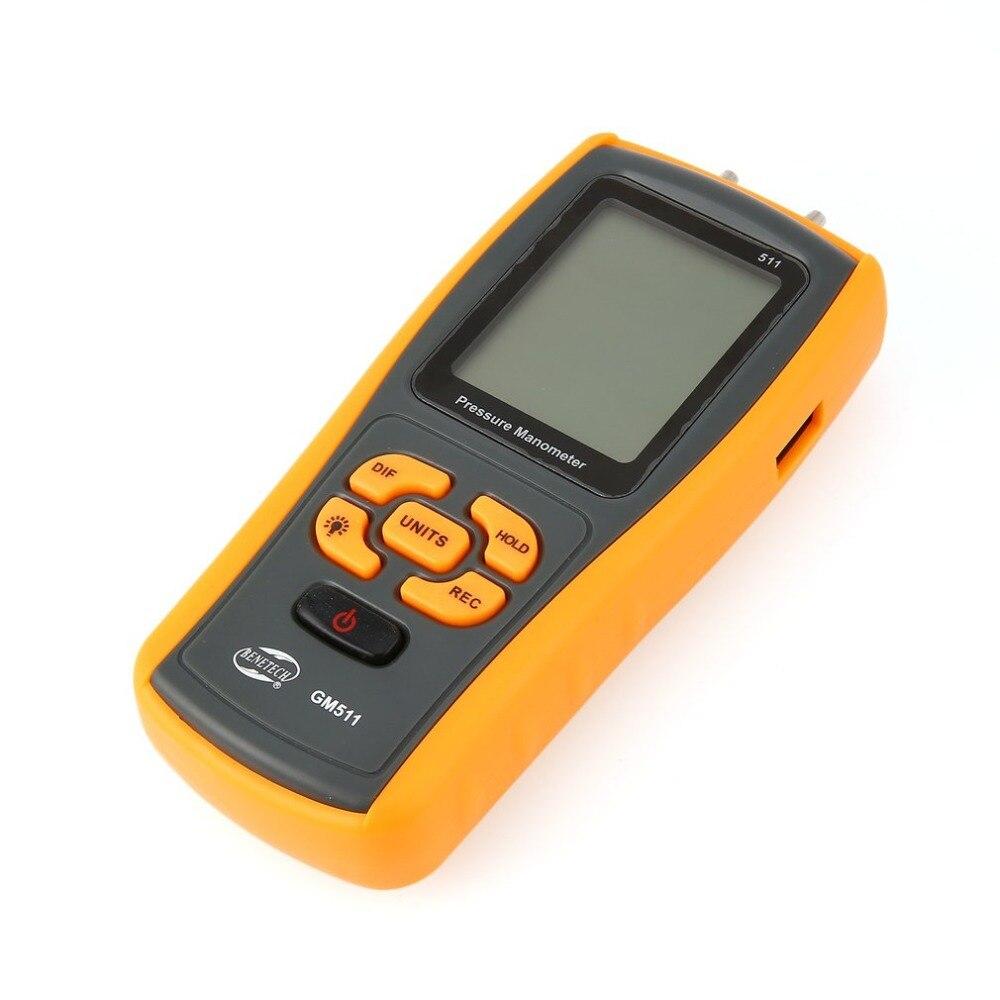 High precision digital pressure gauge GM511 micro-pressure gauge differential pressure manometer air pressure gauge цена