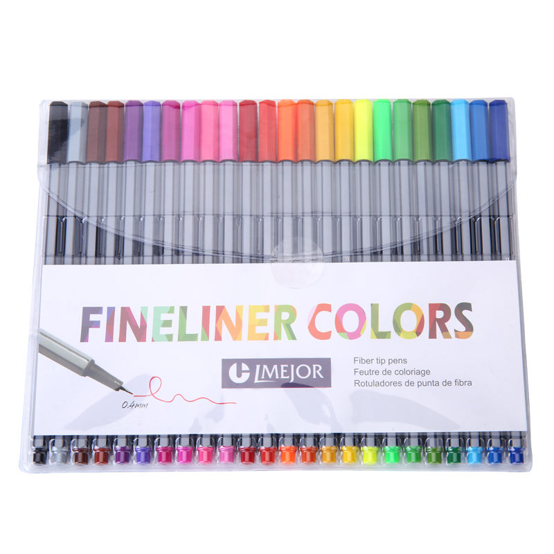 Line Drawing With Fineliner And Pencils : Aliexpress buy mm fineliner pens color