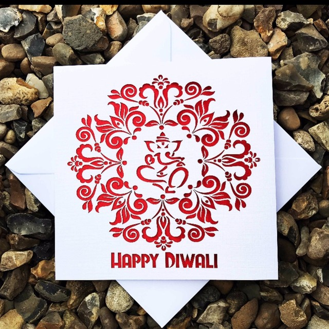100pcs laser cut glossy paper chic design happy diwali greeting card 100pcs laser cut glossy paper chic design happy diwali greeting card wedding invitation card birthday invitaiton m4hsunfo Image collections