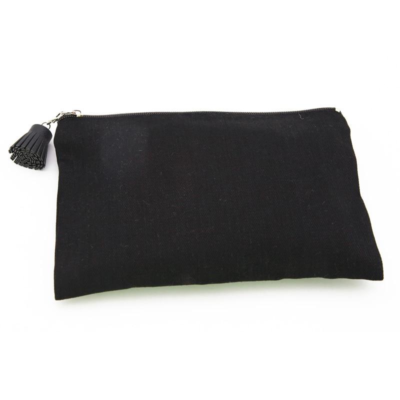 Toile À Oivefeet Coton Noir Personnalisée 100 Étui Taille Imprimé Pcs Accepter Plaine Éclair Lg1117c Fermeture Logo Cosmétique Maquillage Sac nwqPgwYAx