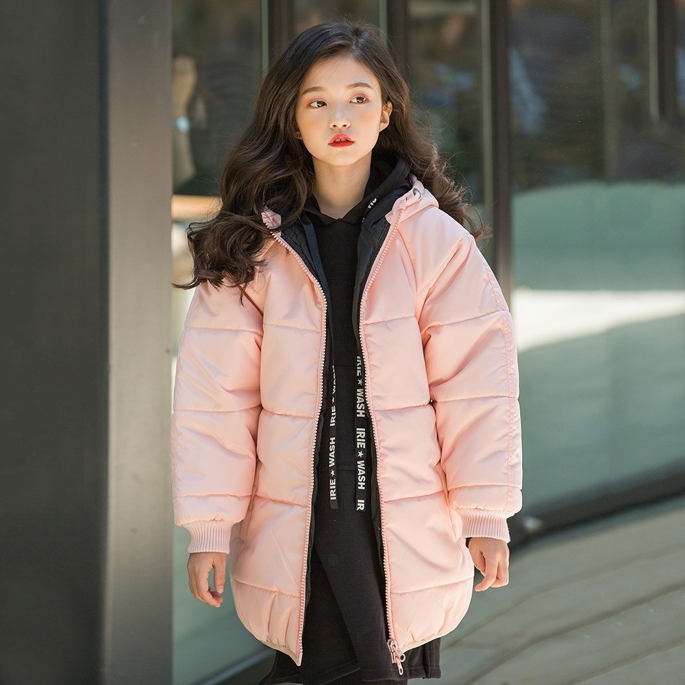 Christmas Cotton Padded Parkas Teen Winter Coat Girl Long Red Pink Black Hooded Warm Winter Jacket For Girl 6 Years 8 10 12 14 christmas cotton padded parkas teen winter coat girl long red pink black hooded warm winter jacket for girl 6 years 8 10 12 14
