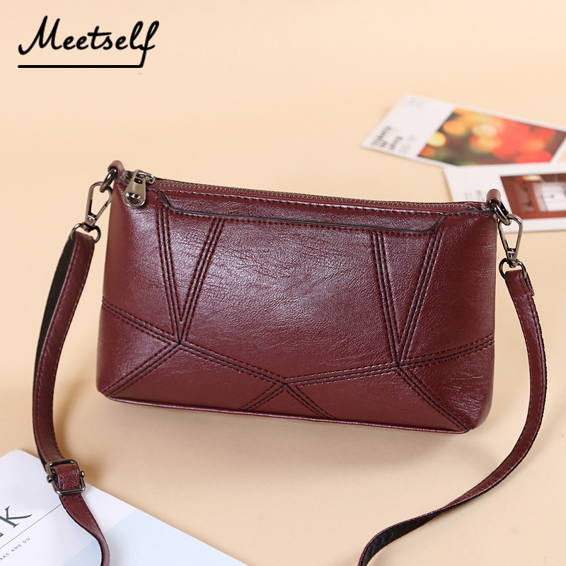 0e285ab6143c Aliexpress.com   Buy MEETSELF Multi Pocket Crossbody Bag Women Small PU  Leather Messenger Bags Female Shoulder Bags Mini Clutch Purse Bag DY 919  from ...