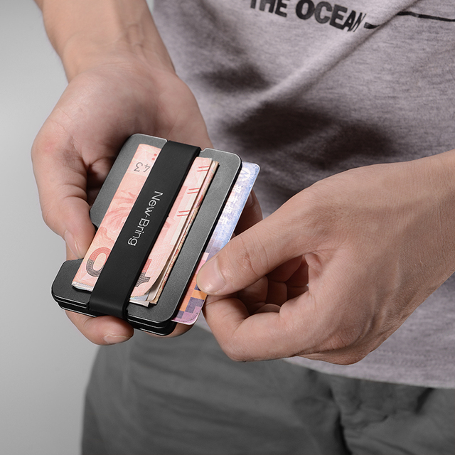 NewBring Multi-functional Metal Money Clip Men with Credit Card Wallet and key holder 4