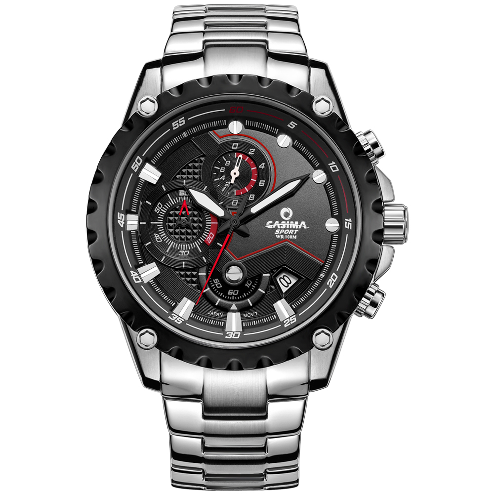 CASIMA luxury brand font b Men s b font WristWatch Sport Fashionable font b Quartz b