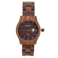 BEWELL Oryginalny Drewna Zegarek Unisex Mężczyźni Kobiety Mody Zegarek Marki Zegarek Panie Wyświetlacz Data Relogio Feminino z Szkatułce 064A