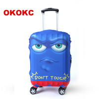 OKOKC мультфильм лицо эластичная Туристическая сумка чемодан защитный чехол для применения на 19 ''-32'' чемодан, аксессуары для путешествий