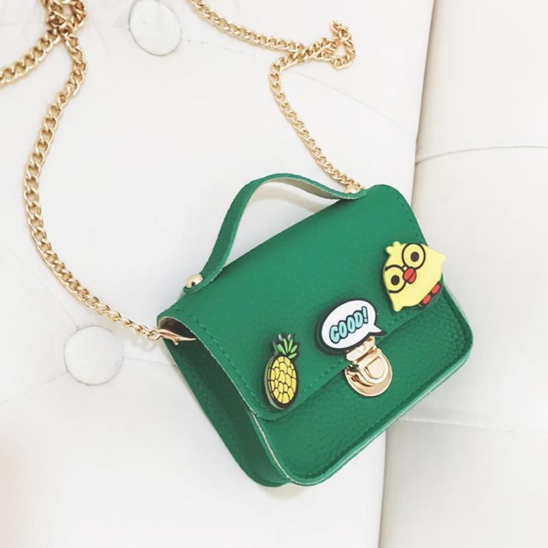60047e6886ad Cute Cartoon Kids Chain Messenger Bag Baby Girls Purse PU Leather Children  Shoulder Crossbody Handbags Features  The fashion version of the  type concise but ...