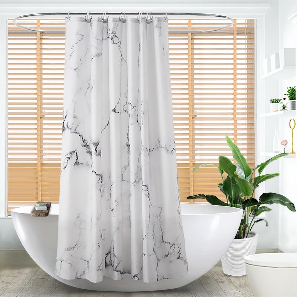 creative 3d digital waterproof shower curtain transparent