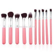 2016 HOT !! Professional 10 pcs Makeup cream Brush Set tools Make-up Toiletry Kit Wool Brand Make Up Brush Set