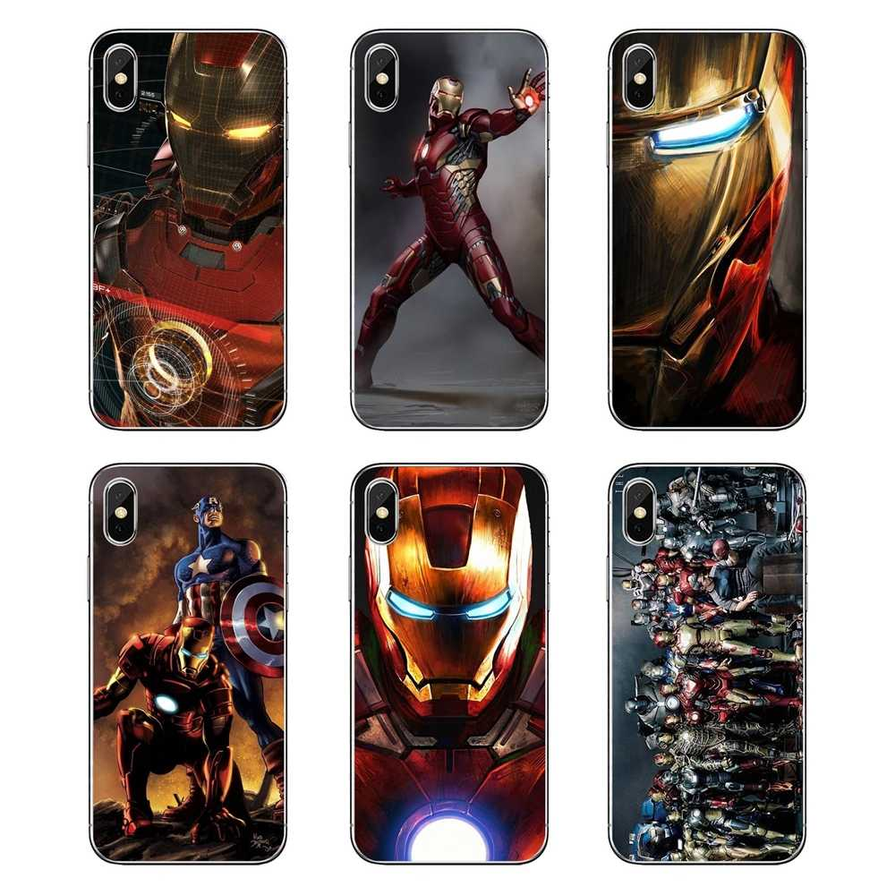 For LG G7 Q6 Q7 Q8 Q9 V30 X Power 2 3 For OnePlus 3T 5T 6T TPU Transparent Case The Avengers Superhero iron man Robert Downey Jr