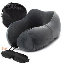 Almohadas de espuma de memoria en forma de U Suave lento cuello