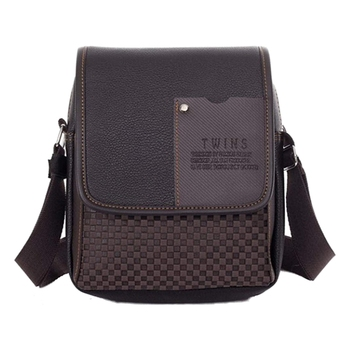 Men Synthetic Leather Bag Shoulder Bag Shoulder Bag Briefcase Messenger