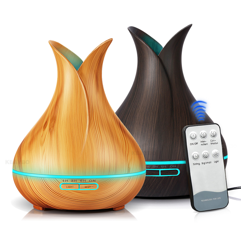 400ml Remote Control Aroma Air Humidifier Essential Oil Diffuser Aromatherapy Electric Ultrasonic cool Mist Maker for Home 550ml aroma diffuser air electric humidifier for home with remote control essential oils for aromatherapy ultrasonic mist maker