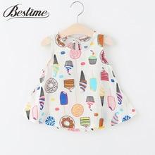 Summer Baby Dress Sleeveless Infant Dress Newborn Ice Cream Cotton Linen Dresses for Girls Casual Baby Girls Clothing