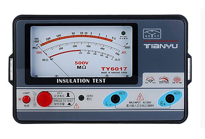 TY6017 500V insulation resistance meter,analog INSULATION TESTER,0.5-1000M.  цены